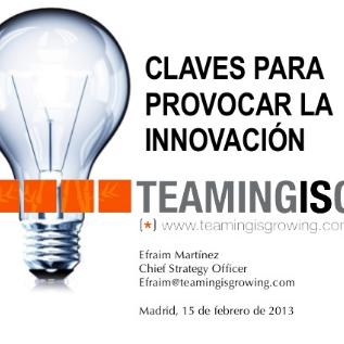 Charla «Claves para la innovación» en Madrid – La Vaguada